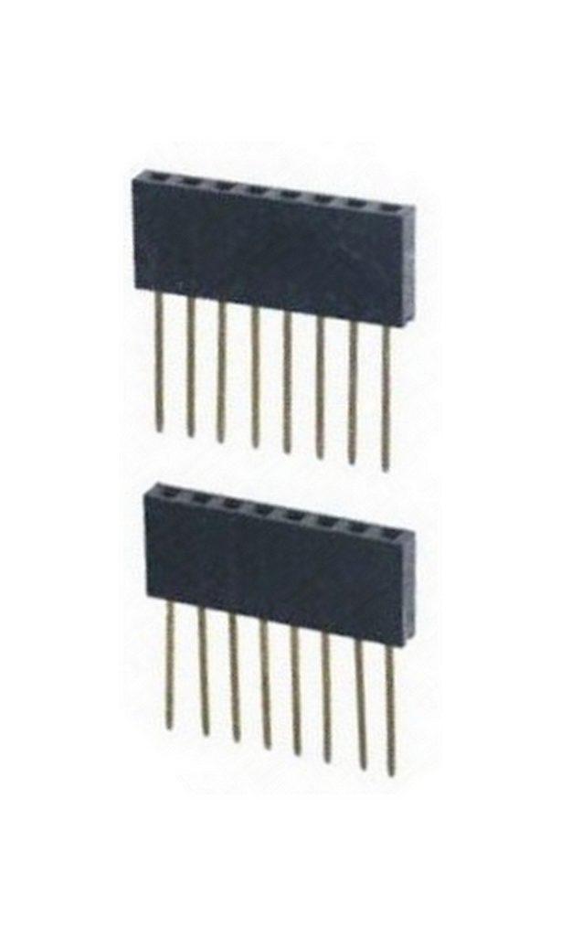 Buchsenleiste Mikrocontroller Header stapelbar extra lang 8-polig 2 Stück (0082)