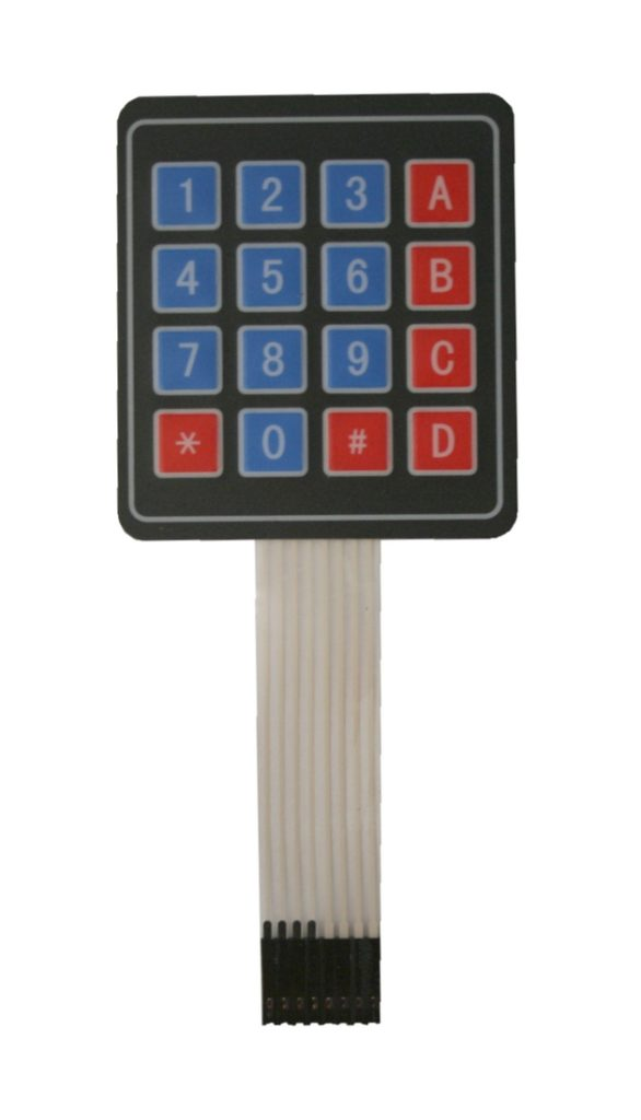 Folientastatur 4x4 mit Stecker 16 Tasten Mikrocontroller (0027)