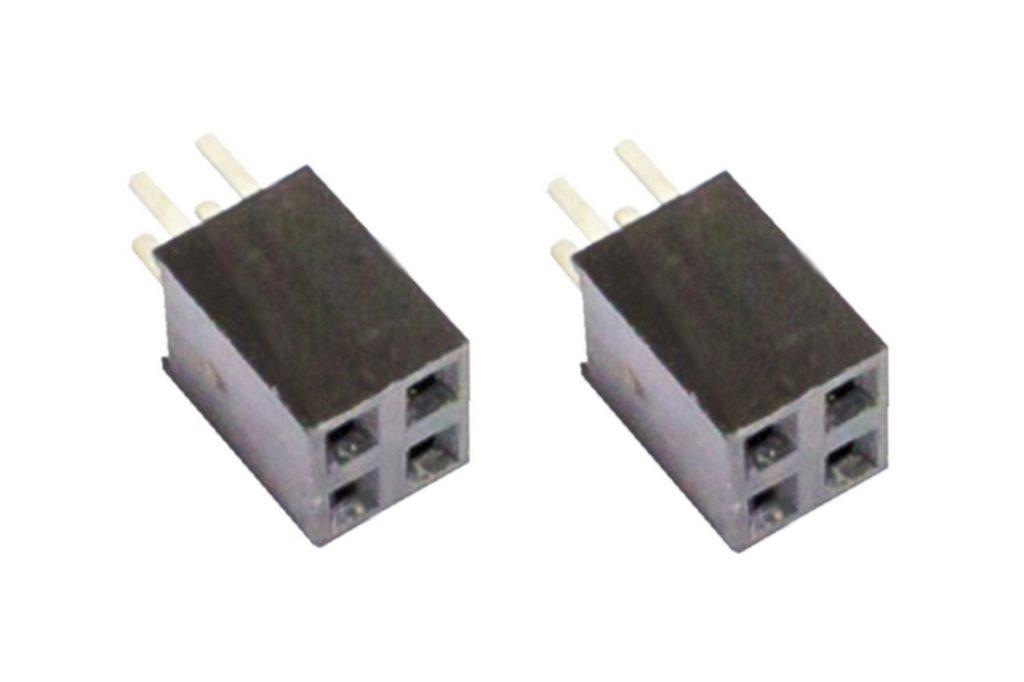 Buchsenleiste 2x2 4Pin zweireihig Mikrocontroller 2 Stück (0029)