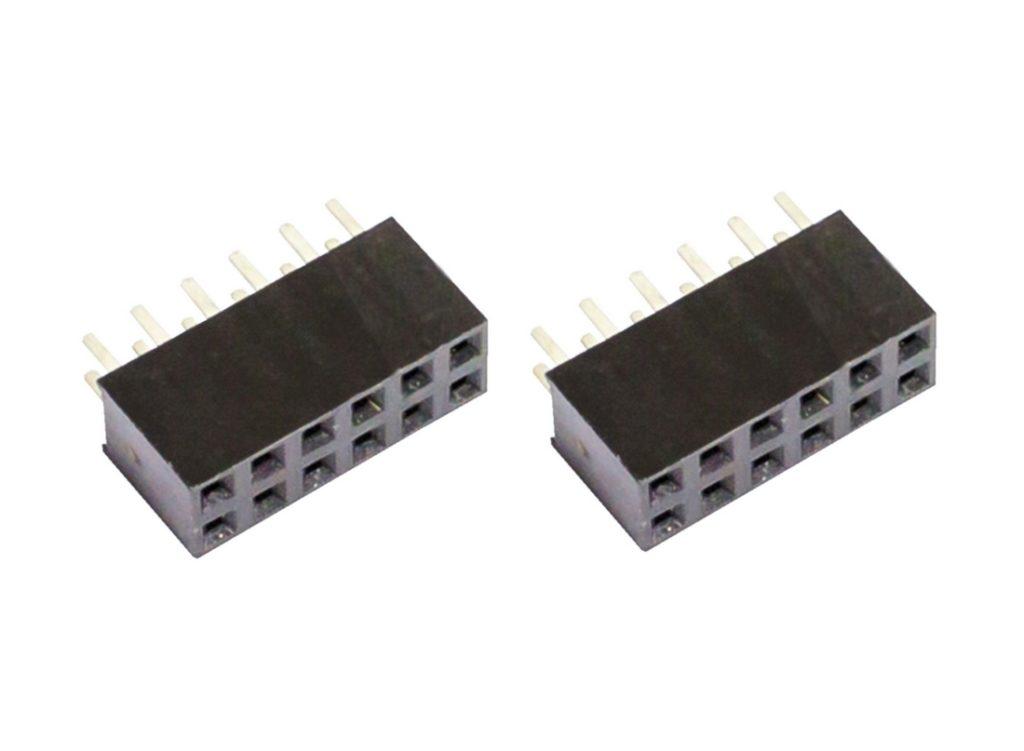 Buchsenleiste 2x6 12Pin zweireihig Mikrocontroller 2 Stück (0030)
