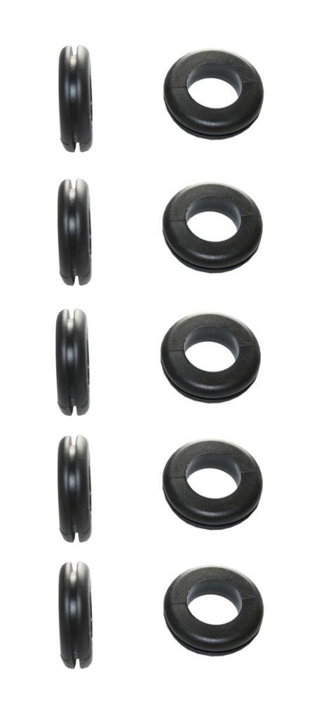 Durchgangstüllen Kabeldurchführung Kabeldurchlass 4mm schwarz 10 Stück (0306)