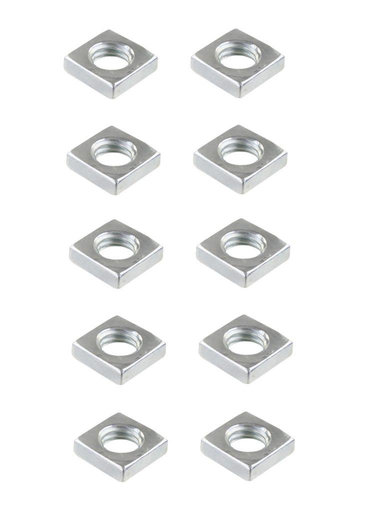 Vierkantmutter Mutter M5 Stahl verzinkt DIN 557 10 Stück (0133)