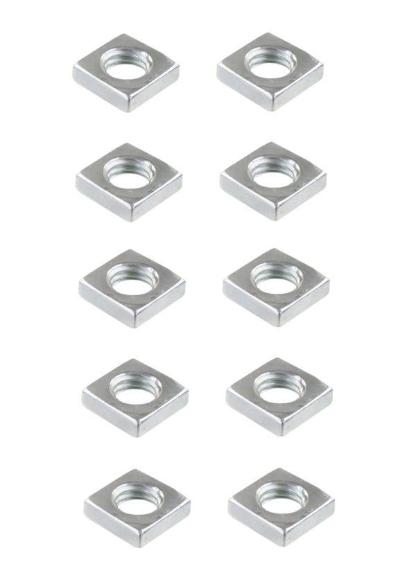 Vierkantmutter Mutter M6 Stahl verzinkt DIN 562 10 Stück (0134)