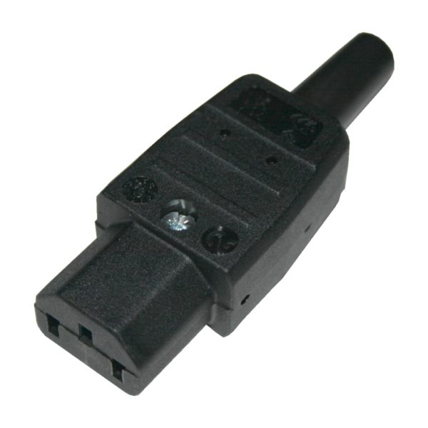 Netzstecker Kaltgerätestecker Stecker 3 polig 10A weiblich (0241)
