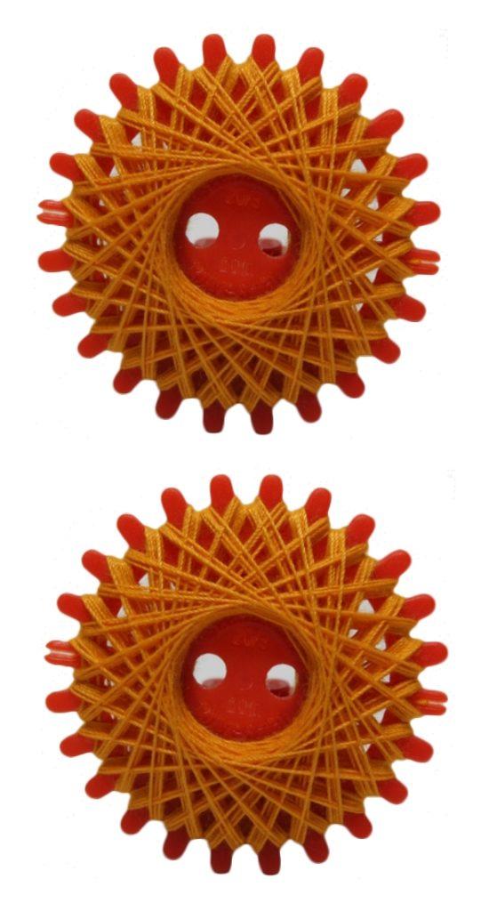 Sternzwirn Polyester 20/3 20m orange 2 Stück (1080)