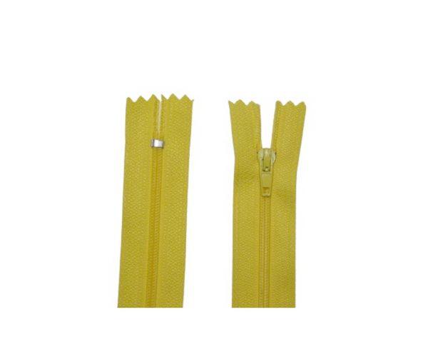 Reißverschluss 20 cm spiralförmig nicht trennbar gelb (2034)