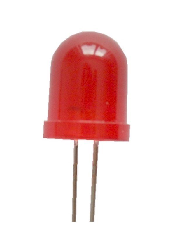 Blink LED 10mm rot selbstblinkend 100-400 mcd 60° (0018)