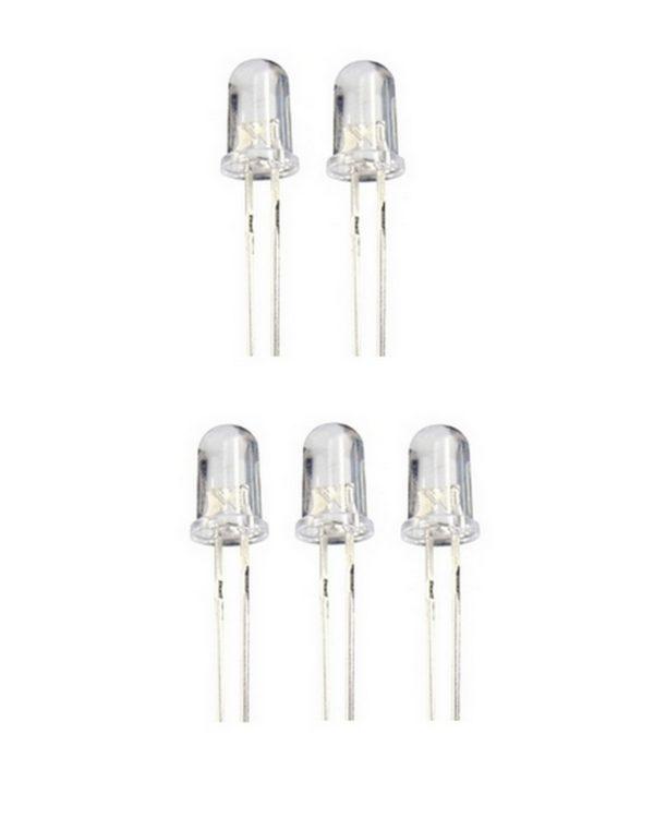 Wechsel LED 5mm RGB langsamer Wechsel RGB 5 Stück (0036)