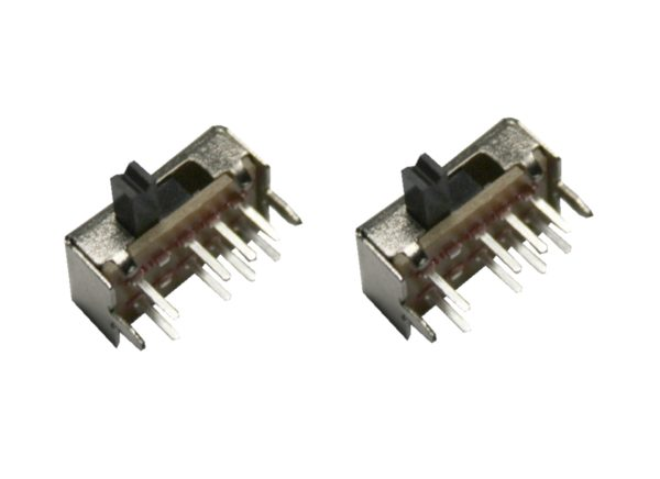 Mini Schiebeschalter Schalter SK-23D07VG4 8pin 3Positionen 90° 2 Stück (0024)