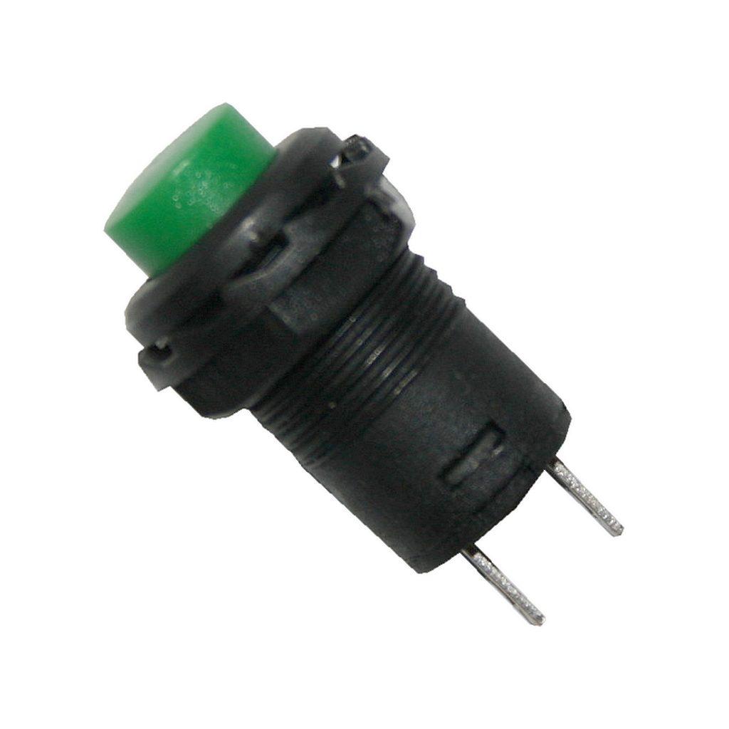 Drucktaster Taster rund mit grünen Knopf ON-OFF (0029)