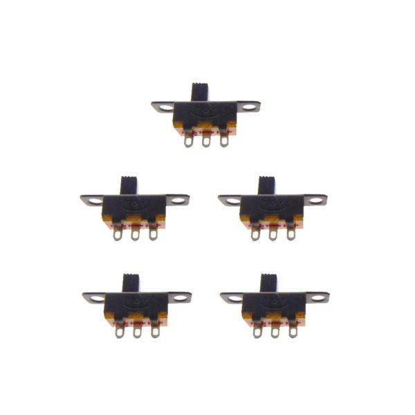 Mini Schiebeschalter Schalter SS12F15 3pin ON-ON 5 Stück (0051)