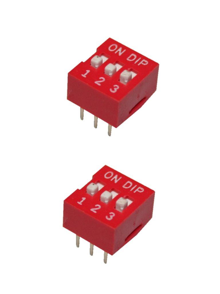 DIP-Schalter Wahlschalter Schalter 6pin 3xON-OFF 2 Stück (0052)
