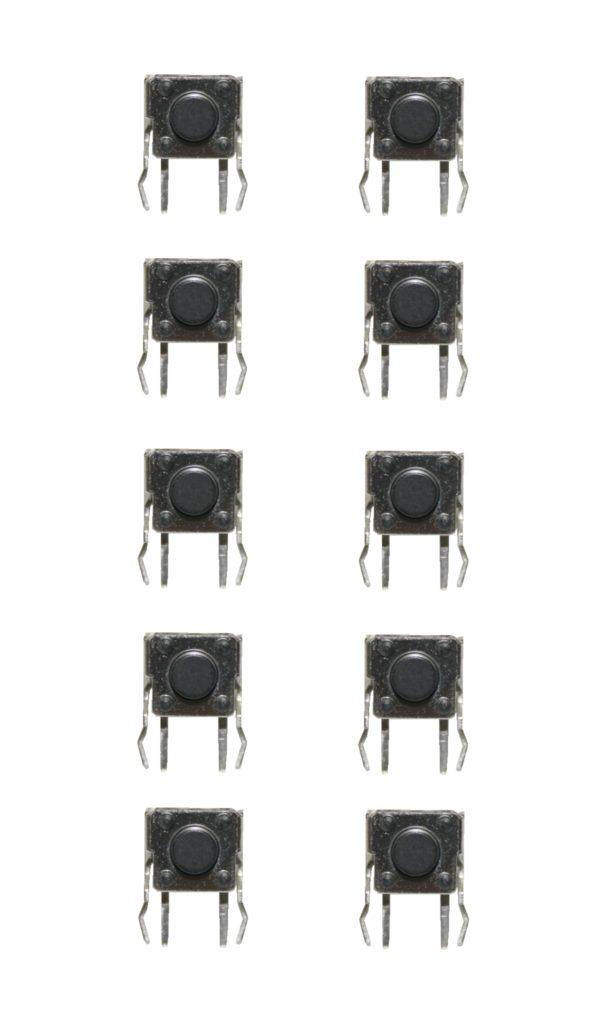 Minitaster rechtwinklig Microtaster Taster 6x6x5mm 1xON-OFF 10 Stück (0053)