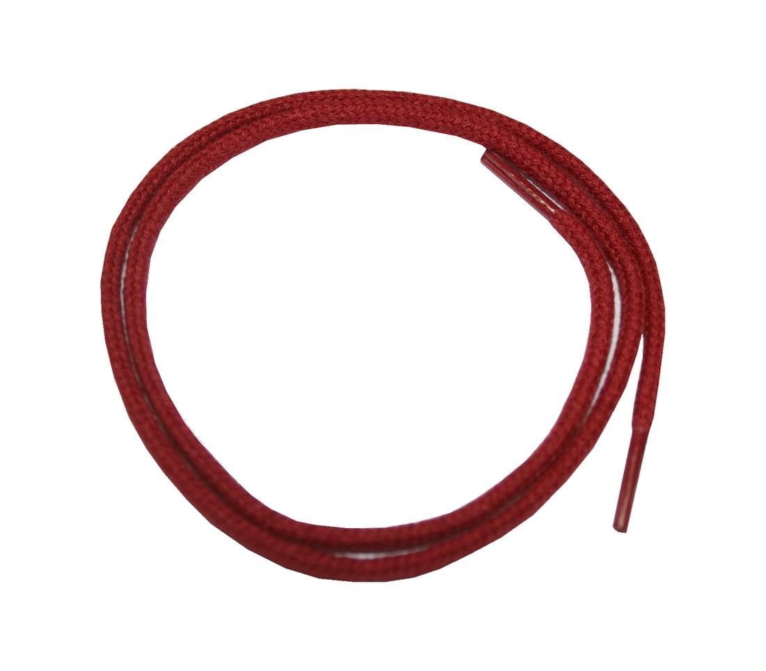 Schuhband Schnürsenkel 1 Paar Baumwolle 50cm rund rot (0121)