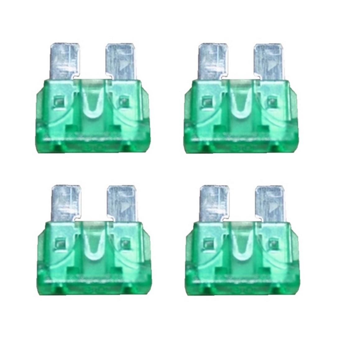 KFZ-Flachsicherung Sicherung 30A grün 4 Stück (0027)