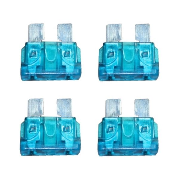 KFZ-Flachsicherung Sicherung 15A blau 4 Stück (0030)