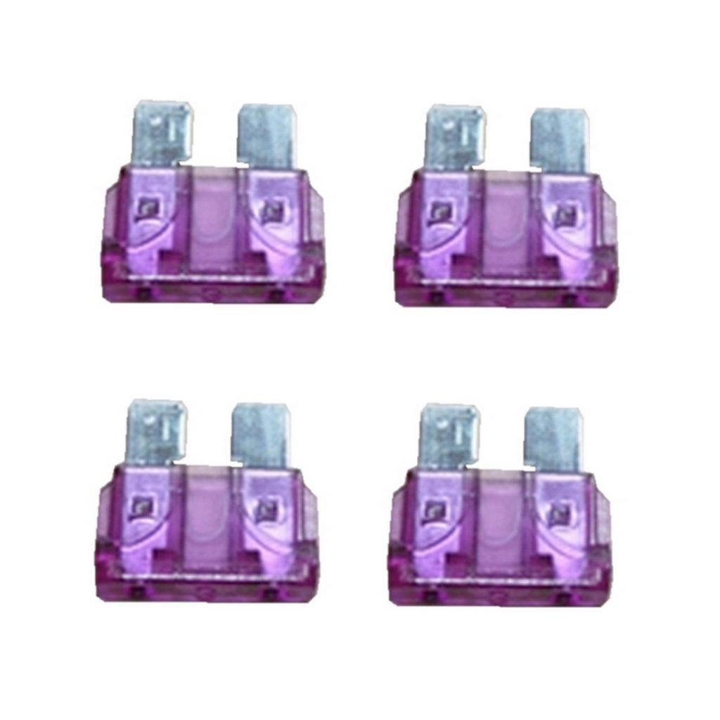 KFZ-Flachsicherung Sicherung 3A lila 4 Stück (0034)