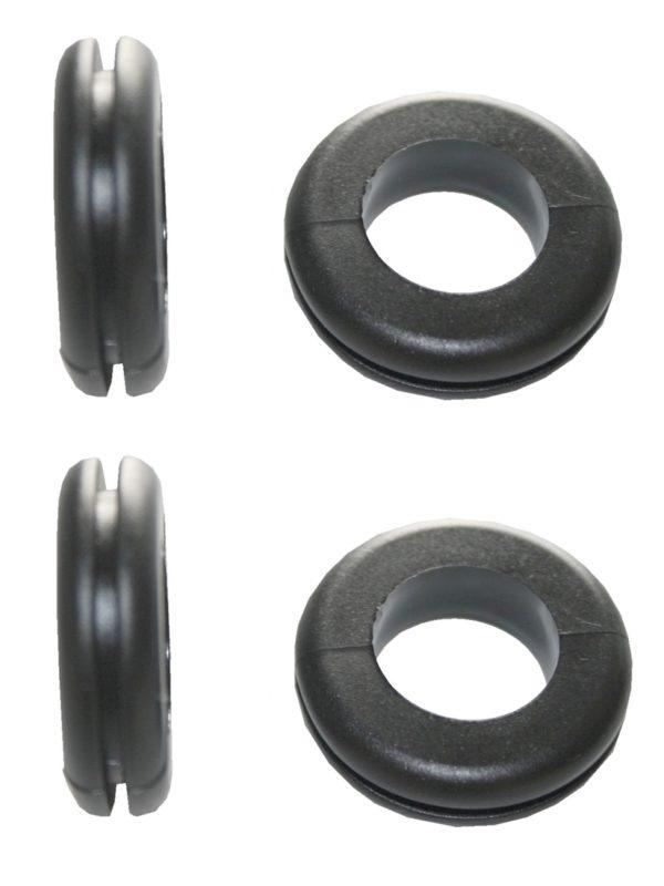 Durchgangstüllen Kabeldurchführung Kabeldurchlass 14mm schwarz 4 Stück (0308)