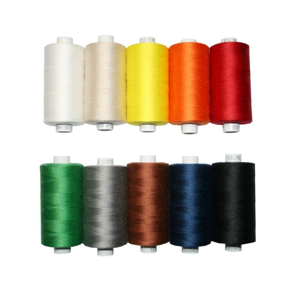 Universal Nähgarn Farben-Mix in 10 Farben 10x1000m Polyester (0000)