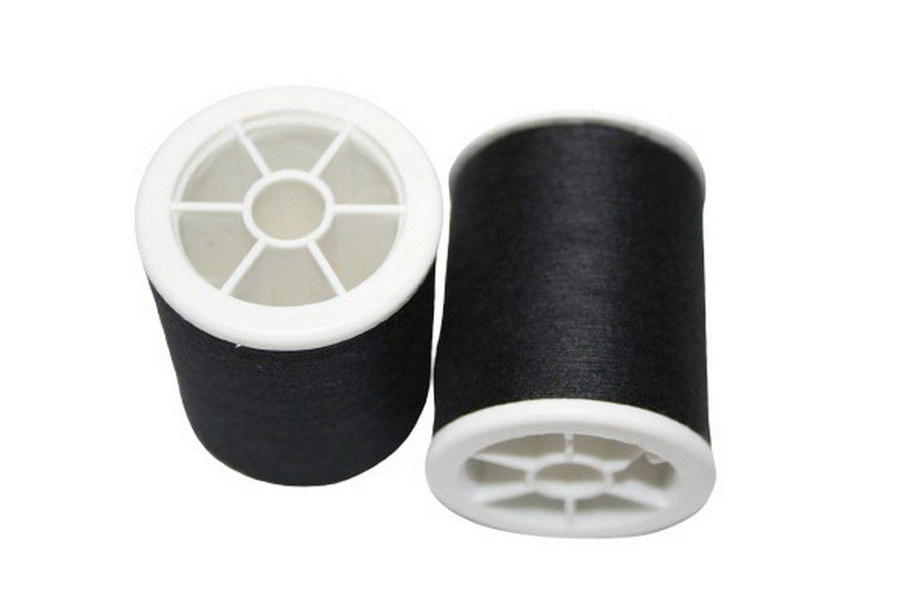Nähmaschinen Nähgarn Polyester 100/3 200m schwarz 2 Stück (1001)