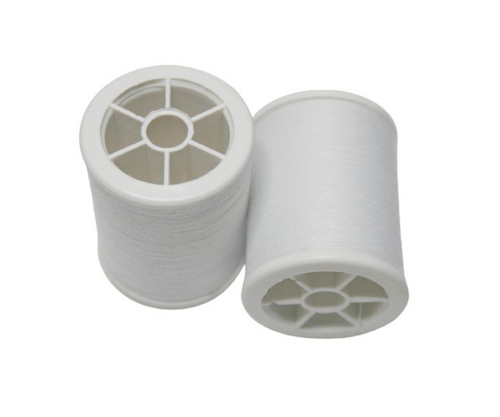 Nähmaschinen Nähgarn 100% Polyester 100/3 weiß 1 Spule 500 m (1000)