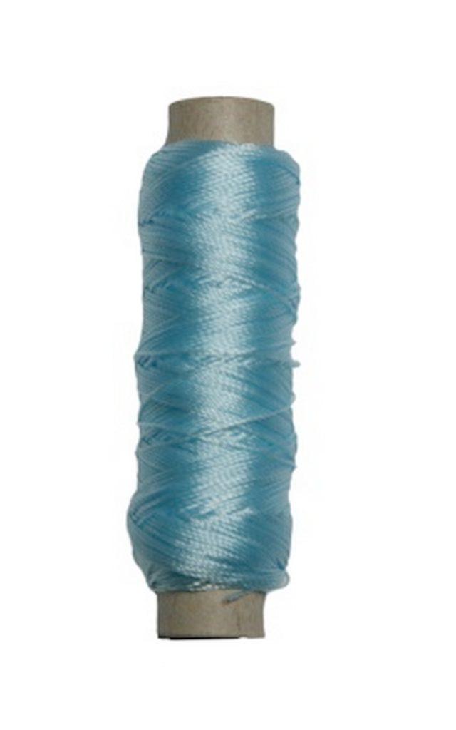 Sattlergarn Zwirn 14x2x3 Polyester 50 m blau Ø 0,3mm (5031)
