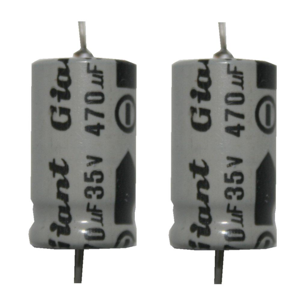 Elko Elektrolytkondensator Kondensator 470uF 35V 85°C 2 Stück (2012)