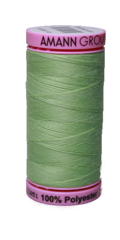 Zwirn 100 % Polyester ASPO PES 120 Amann hellgrün Smaragd 500 m (0091)