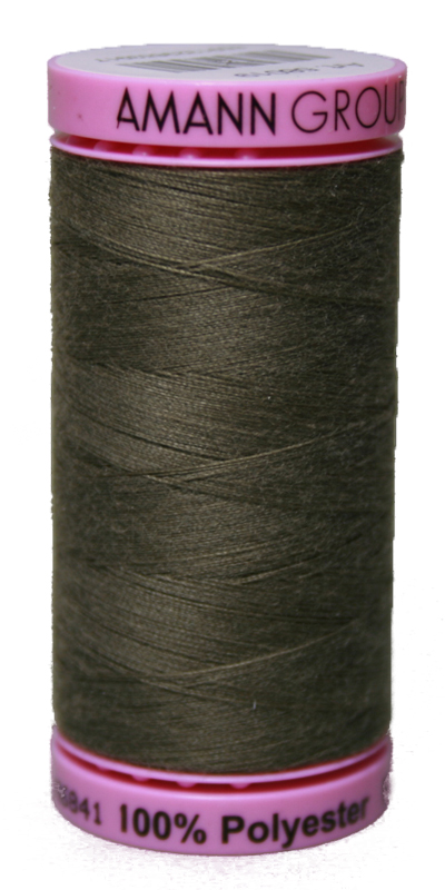Zwirn 100 % Polyester ASPO PES 120 Amann oliv 500 m (0381)