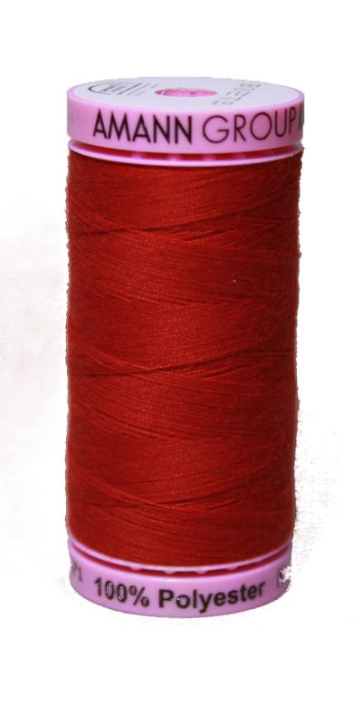 Zwirn 100 % Polyester ASPO PES 120 Amann rot 500 m (0504)