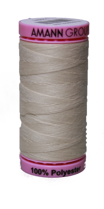Zwirn 100 % Polyester ASPO PES 120 Amann hellcreme 500 m (3000)