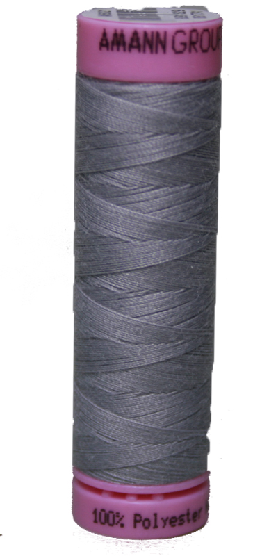 Zwirn 100 % Polyester ASPO PES 120 Amann silbergrau 100 m (0331)