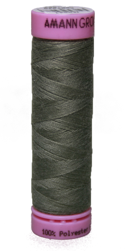 Zwirn 100 % Polyester ASPO PES 120 Amann grau olivgrau 100 m (0373)