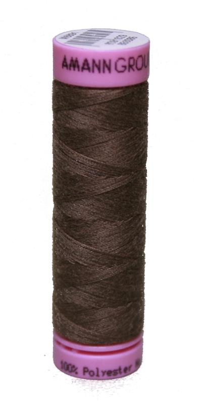 Zwirn 100 % Polyester ASPO PES 120 Amann braun 100 m (1380)