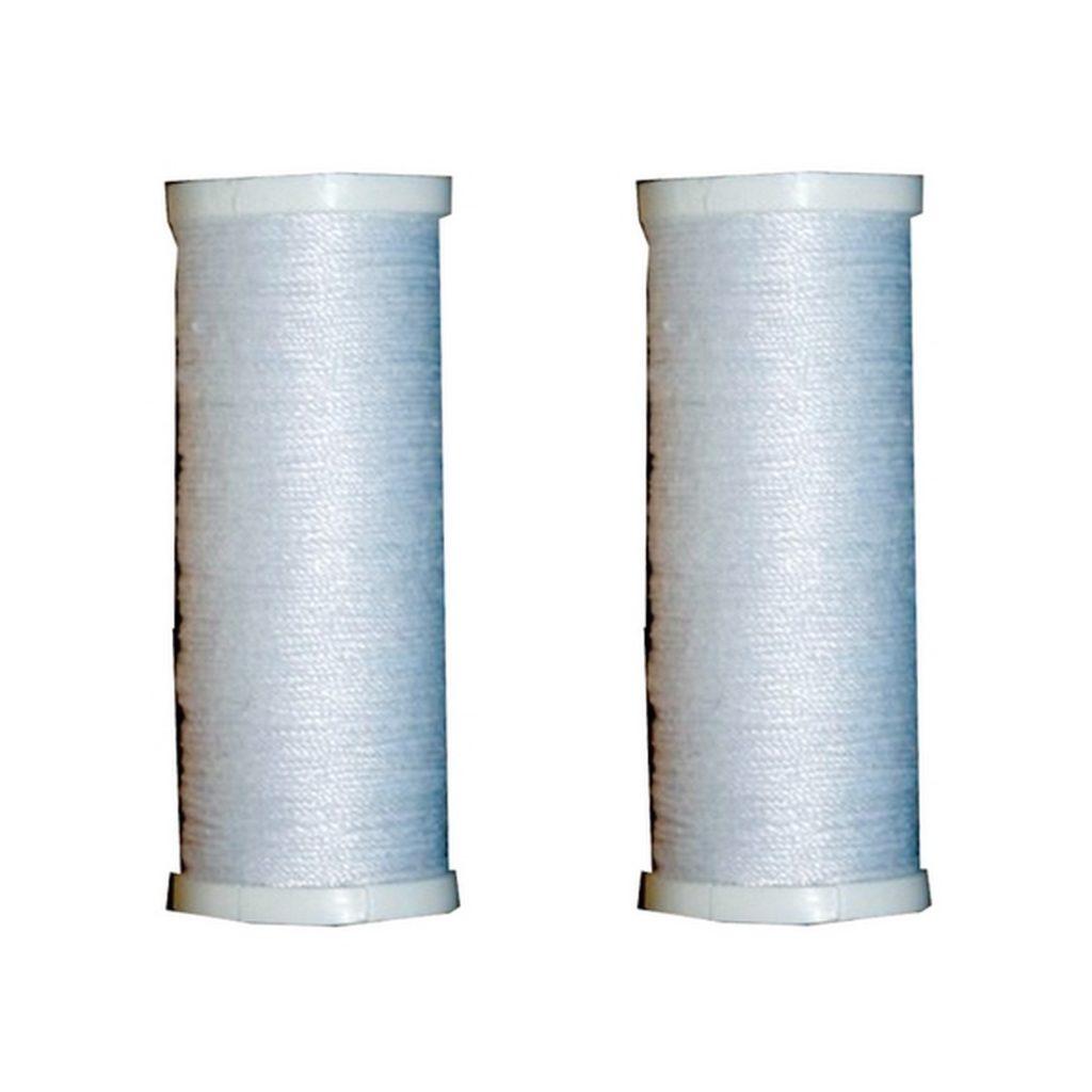 Nähmaschinen Nähzwirn Polyester 20/3 80 m 2 x 40 m weiß (9988)