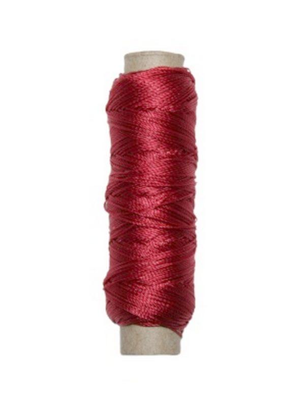 Sattlergarn Zwirn 14x2x3 Polyester 50 m rot Ø 0,3mm (5009)