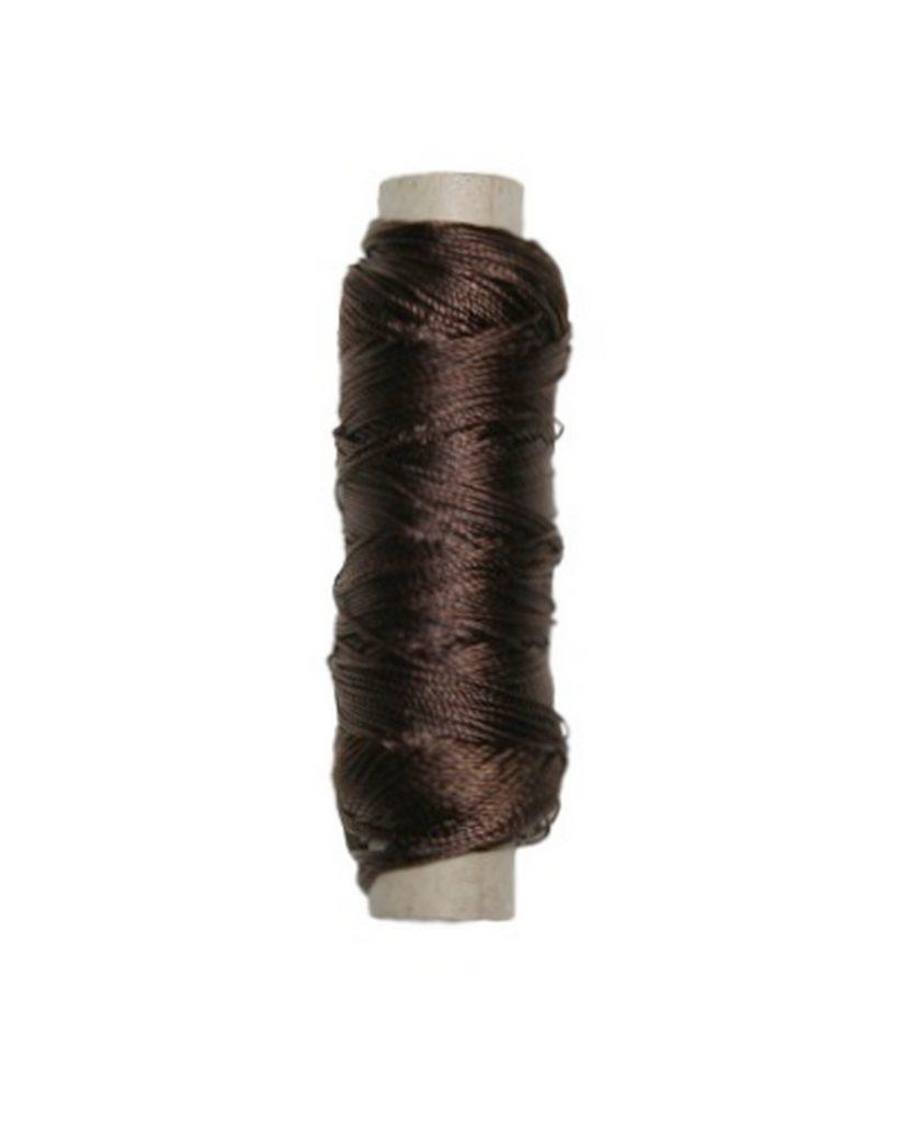 Sattlergarn Zwirn 14x2x3 Polyester 50 m braun Ø 0,3mm (5049)