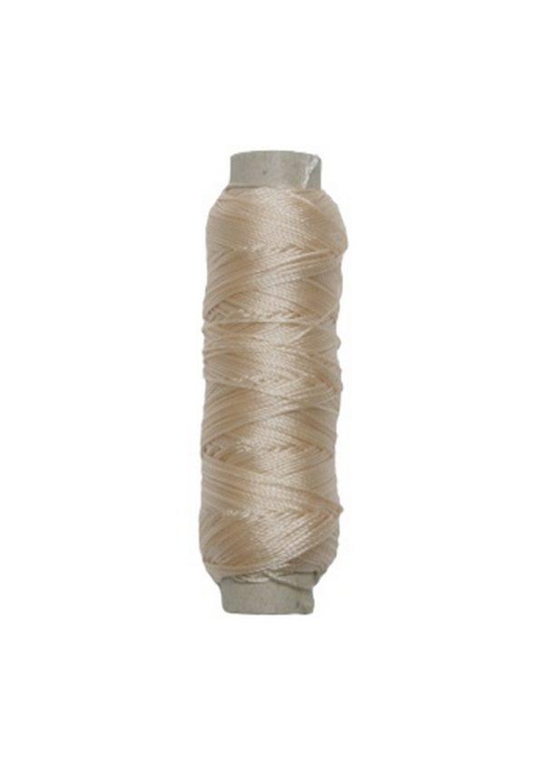 Sattlergarn Zwirn 14x2x3 Polyester 50 m beige Ø 0,3mm (5086)