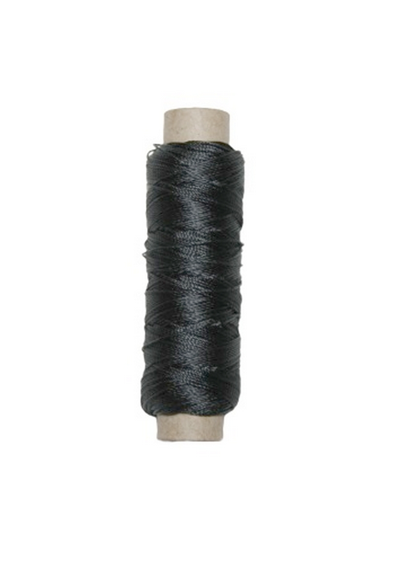 Sattlergarn Zwirn 14x2x3 Polyester 50 m anthrazit grau Ø 0,3mm (5127)