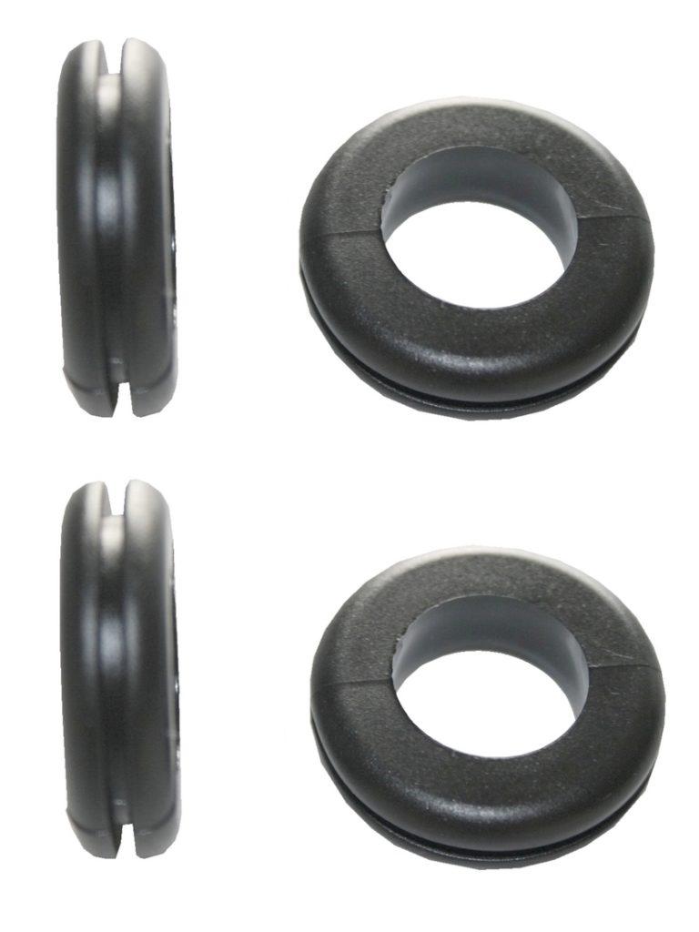 Durchgangstüllen Kabeldurchführung Kabeldurchlass 10mm schwarz 4 Stück (0157)