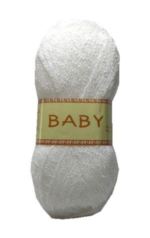 Strickgarn Häkelgarn BABY 50 g weiß (0002)