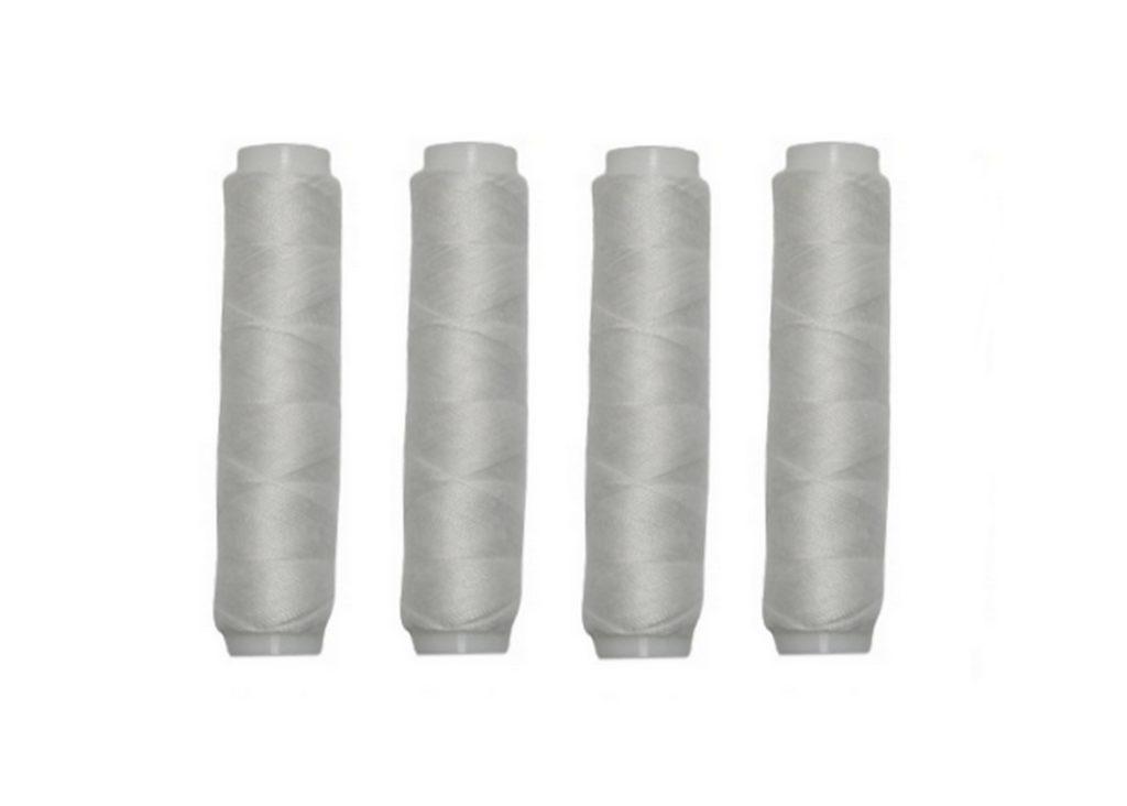 Nähmaschinen Nähgarn 200 m 4 x 50m Polyester weiß (0001)