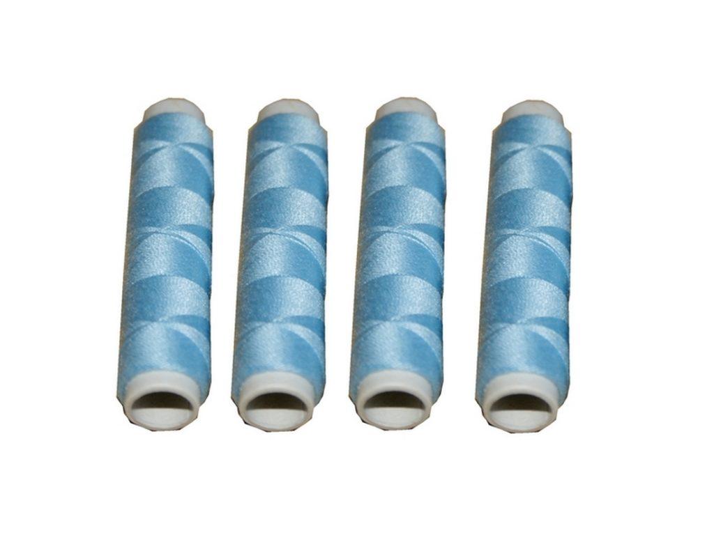 Nähmaschinen Nähgarn 200 m 4 x 50m Polyester 40/2 hellblau (1018)